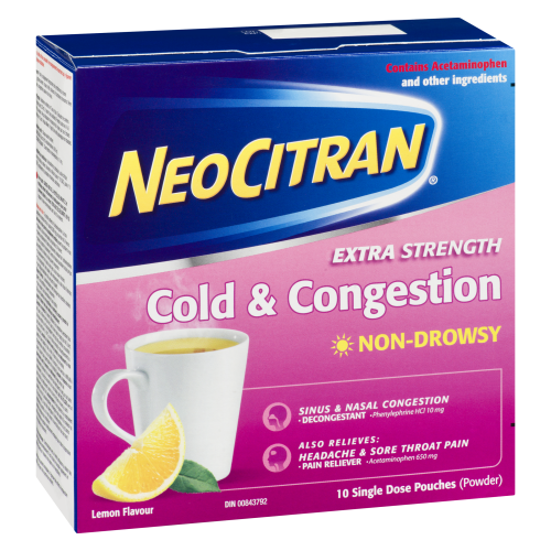 Neo Citran Extra Strength Cold & Congestion Non Drowsy 10's