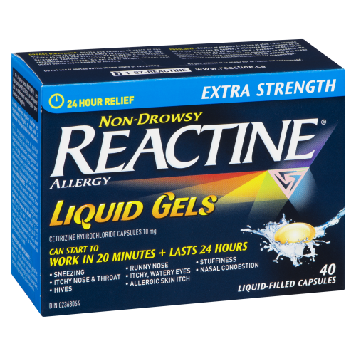 Reactine Non Drowsy Extra Strength Liquid Gels  40's