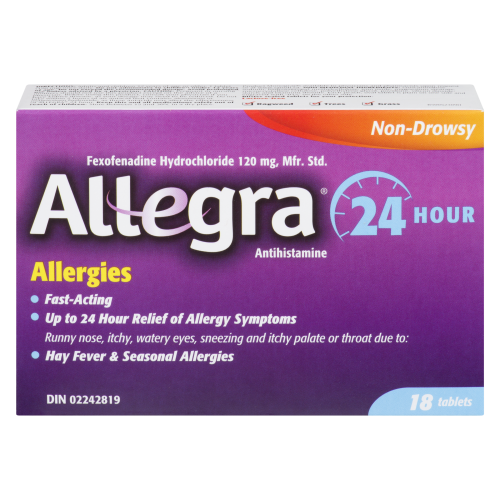 Allegra-24 Hour 18 Tablets