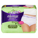 Always Discreet Underwear Maxi Large 17's