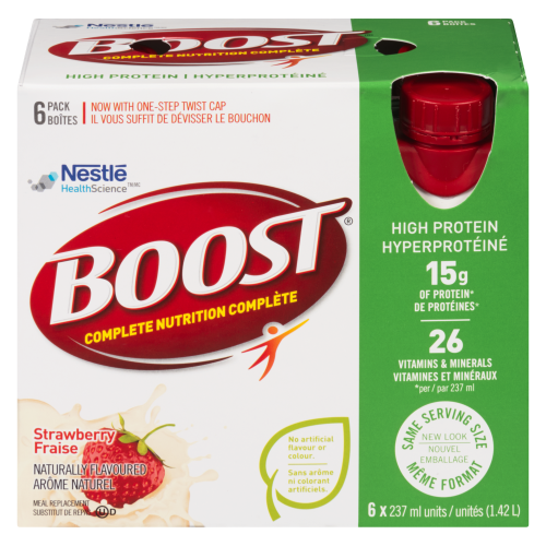Boost 6x237ml High Protein Strawberry