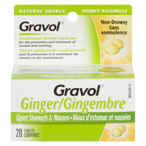 Gravol Natural 20 Tablets