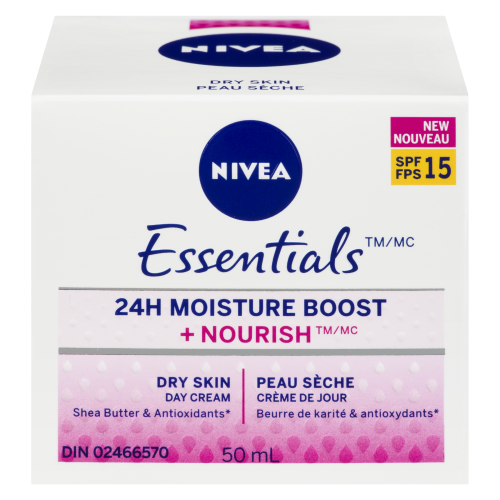 Nivea Essential 24hr Moist Day Cream Spf 15 50ml