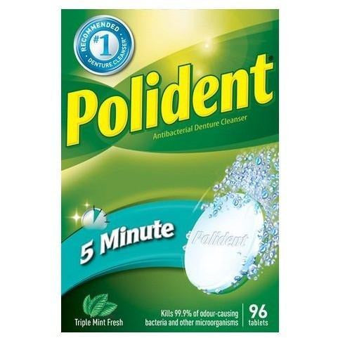 Polident 96 Tablet 3 Minute Mint