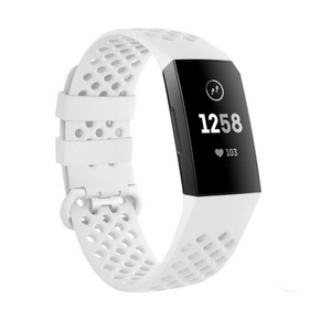 Fitbit Charge 3/4 Strap - Breathable Rubber Strap - Bit Straps