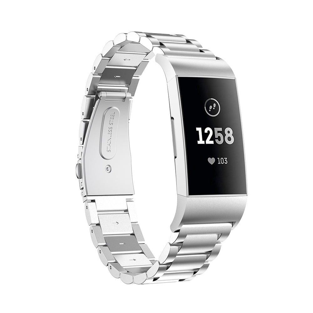 Fitbit Charge 3/Charge 4 Stainless Steel Metal Strap - Bit Straps
