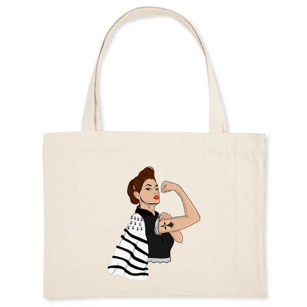 Shopping Bag Bretonne PowerFull Coton Bio
