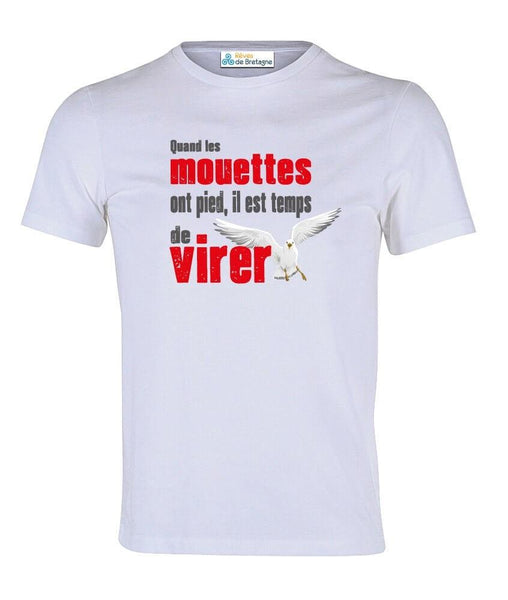 Tee-shirt Quand les Mouettes Ont Pied