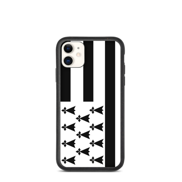 Coque biodégradable iPhone 11 Drapeau Breton