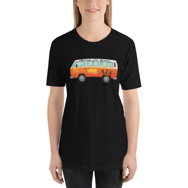 Tee-shirt en coton bio unisexe Hippie Bus Breizh For Ever