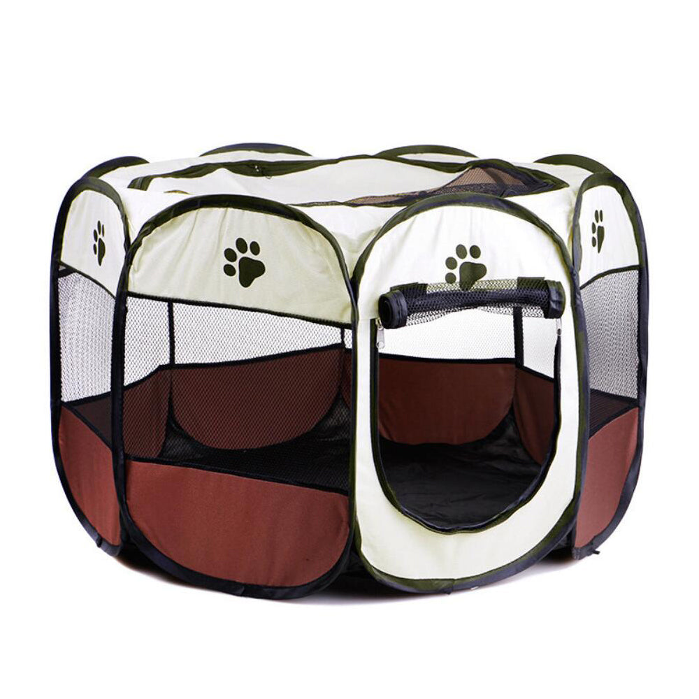 Foldable Pet Cat Dog Playpens, Portable Exercise Kennel Tent