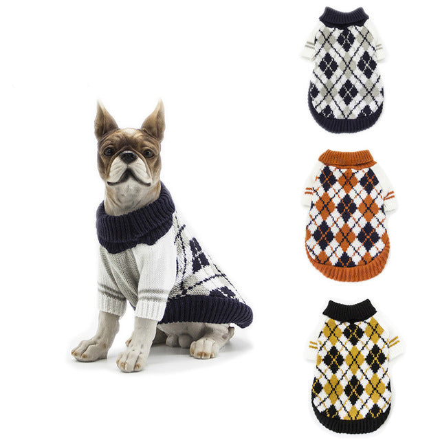 Winter Warmth Pets Dog Cable Knitted Sweater
