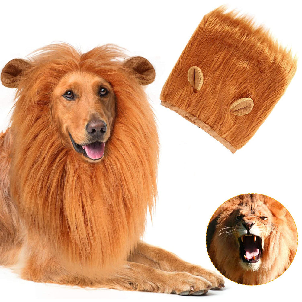 Halloween Pet Party Dog Lion Wig