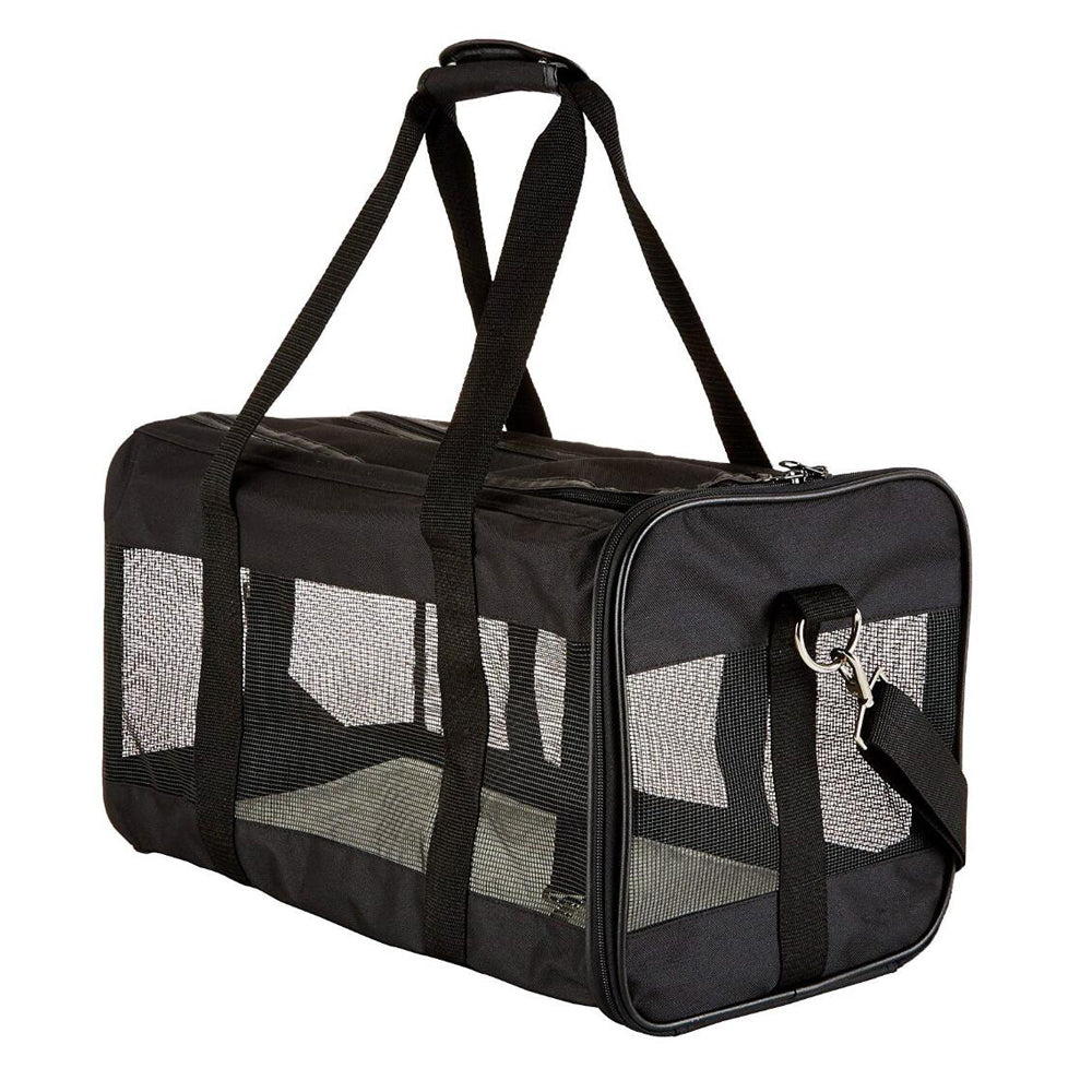 Soft-Sided Mesh Pet Travel Carrier