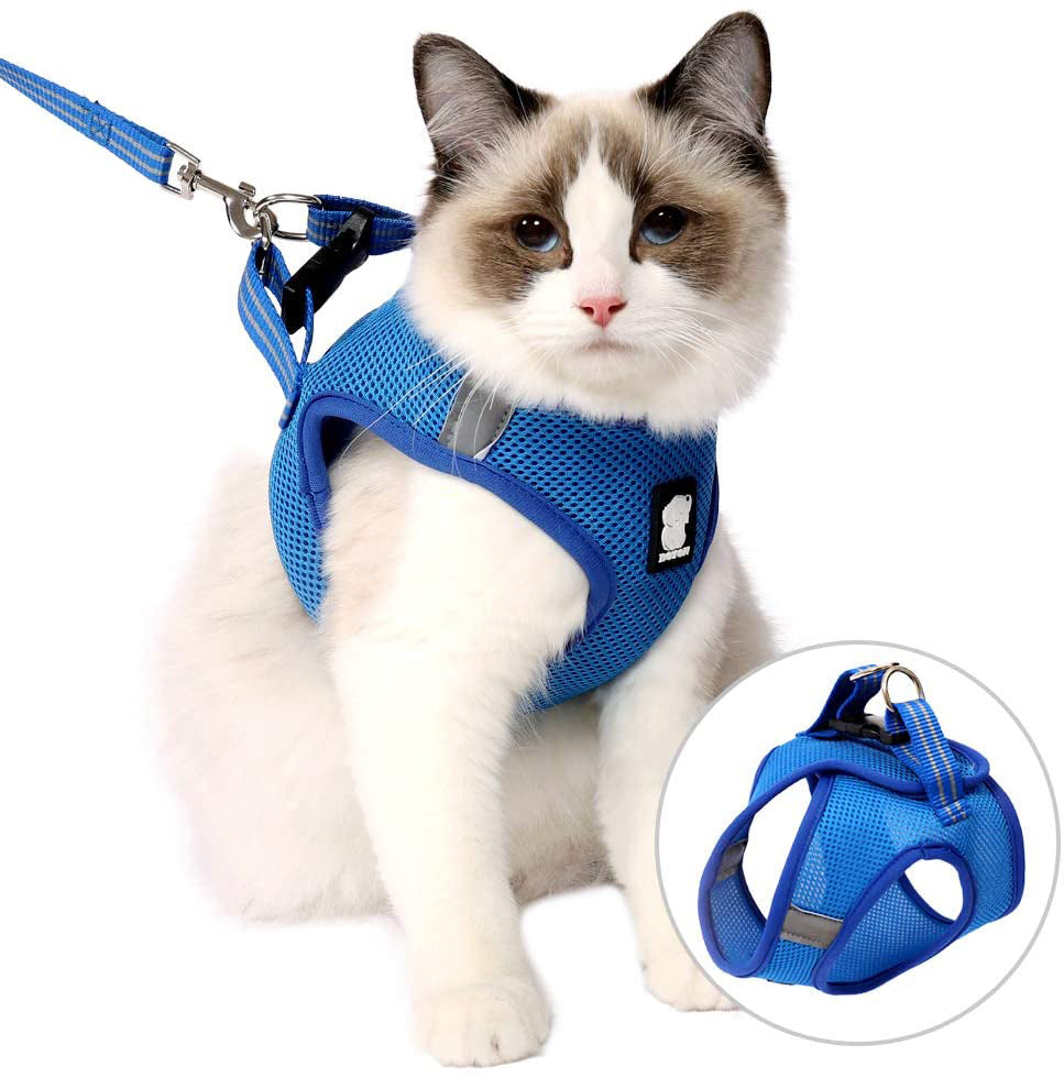 Adjustable Cat Harness And Leash Cat Walking Jacket