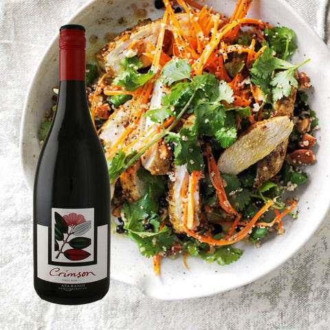 Ata Rangi Crimson Pinot Noir - MOROCCAN CHICKEN AND CARROT SALAD