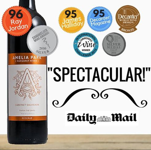 Amelia Park Reserve Cabernet Sauvignon from Margaret River, Australia. Premium red wine from Singapore online wine shop Pop Up Wine.  Same day delivery.