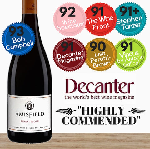 Amisfield Pinot Noir 2016. Premium Pinot Noir from Central Otago. Buy wine Singapore from online wine shop. Same day delivery, free delivery for 2 dozen.