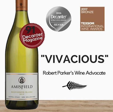 Best New Zealand Sauvignon Blanc white wine by Amisfield. Best price Available in Singapore from Pop Up Wine online. Fast 24hr delivery.