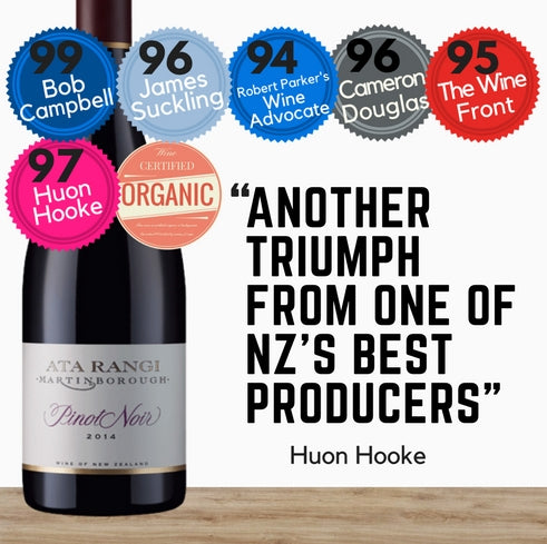 Ata Rangi New Zealand's Organic Pinot Noir red wine. Best price offer at Pop Up Wine online store in Singapore. Delivery today.