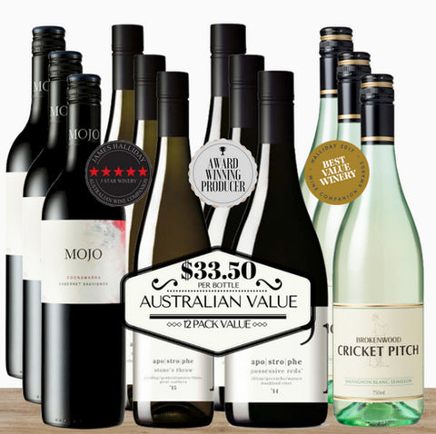 Buy this outstanding Australian wines in a 12 pack value brought to you by Pop Up Wine Singapore.  Buy online now.