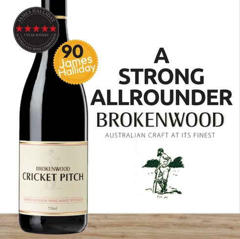 "Brokenwood ""Cricket Pitch"" Cabernet Sauvignon-Shiraz-Merlot 2014 ~ SE Australia"