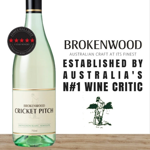 "Brokenwood ""Cricket Pitch"" Semilion-Sauvignon Blanc 2016 ~ NSW, Australia"