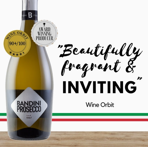 Highly rated Italian Prosecco by Bandini Prosecco from Veneto, discount available online from Pop Up Wine, Singapores favourite online wine retailer. Same day delivery & free for over 2 doz
