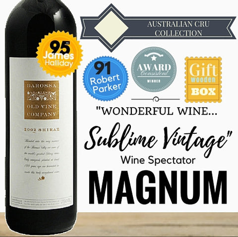 Magnum of Award winning Barossa Shiraz. Premium wine. Outstanding aged red wine. Pop Up Wine Singapore. Same day delivery. Free delivery for any 2 dozen.