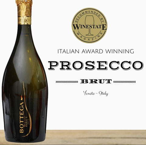 Prosecco from the the multi-award winning winery - Bottega. Buy online from Pop Up Wine. Singapore's low price store.
