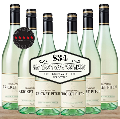 Buy this 6 pack of Brokenwood Cricket Pitch Semillon Sauvignon Blanc from Pop Up Wine, Singapore's favourite online wine store. Buy in bulk and save. The perfect box of champagne for events, parties, weddings, and gifts. Same-day wine and champagne delivery today to your door.