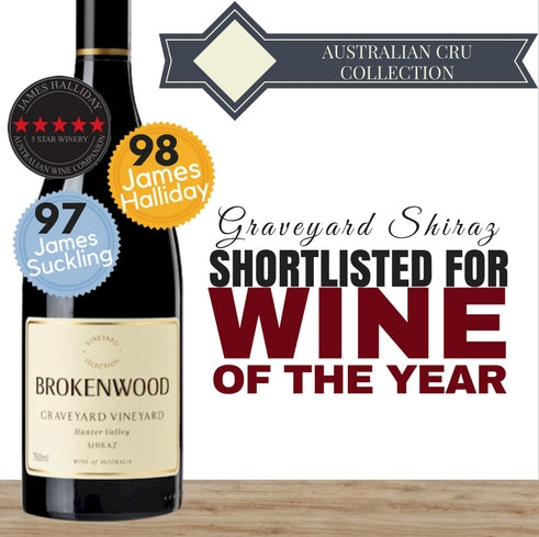 2014 Brokenwood Graveyard Shiraz. Australia's Premium red wine. Get it cheap from Pop Up Wine Singapore ~ same day delivery. Buy online.