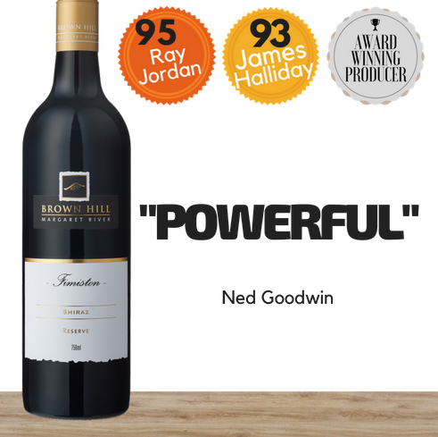 Buy this top-rated Australian Fimiston Reserve Shiraz by Brown Hill Estate today from Pop Up Wine.