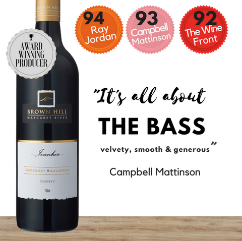 Buy this top-rated Australian Ivanhoe Reserve Cabernet Sauvignon by Brown Hill Estate today from Pop Up Wine.