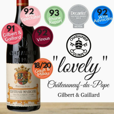Wine Spectator favourite Châteauneuf-du-Pape. Premium red wine. French award winner. Same day delivery from Pop Up Wine. Free delivery for 2 dozen.