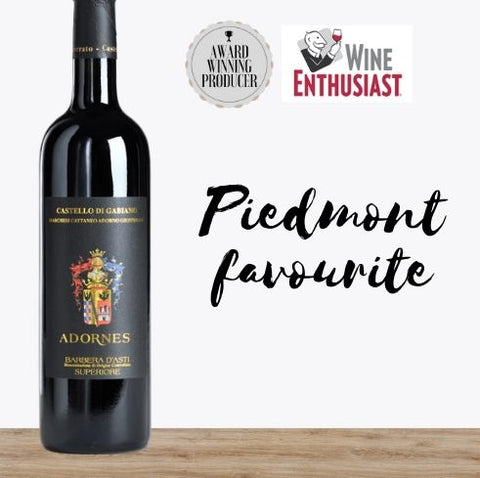 Premium Italian red wine Barbera d'Asti. Available online from Pop Up Wine, Singapores favourite online wine retailer. Same day delivery & free for over 2 dozen bottles.