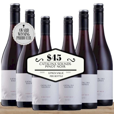 Buy this 6 pack of Catalina Sounds Pinot Noir from Pop Up Wine, Singapore's favourite online wine store. Buy bulk Pinot Noir and save. Perfect box of champagne for events, parties, weddings, and gifts. Same-day wine and champagne delivery today to your door.