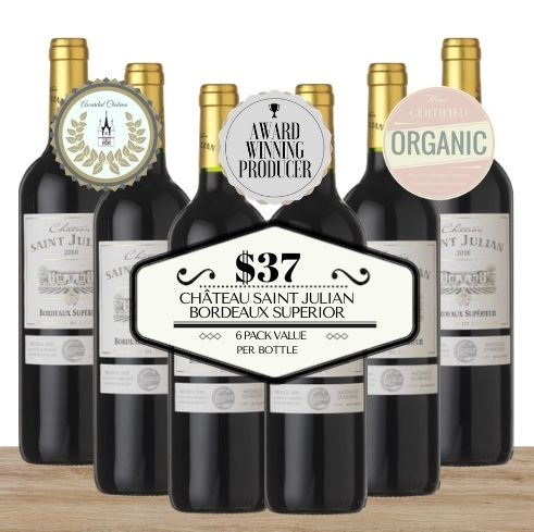 Buy this 6 pack of Château Saint Julian Bordeaux Superior from Pop Up Wine, Singapore's favourite online wine store. Buy in bulk and save. Perfect box of champagne for events, parties, weddings, and gifts. Same-day wine and champagne delivery today to your door.
