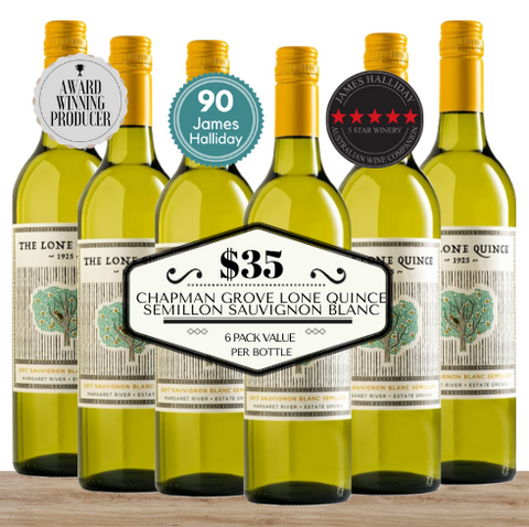 Buy this 6 pack of Chapman Grove Lone Quince Semillon Sauvignon Blanc from Pop Up Wine, Singapore's favourite online wine store. Buy in bulk and save. The perfect box of champagne for events, parties, weddings, and gifts. Same-day wine and champagne delivery today to your door.