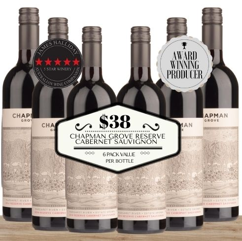 Buy this 6 pack of Chapman Grove Reserve Cabernet Sauvignon from Pop Up Wine, Singapore's favourite online wine store. Buy in bulk and save. The perfect box of champagne for events, parties, weddings, and gifts. Same-day wine and champagne delivery today to your door.