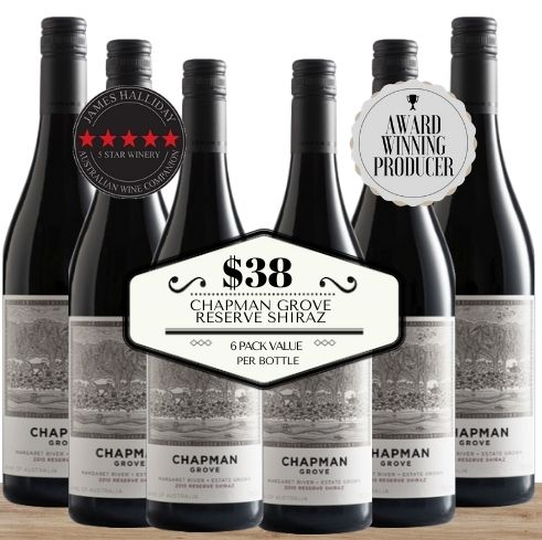 Buy this 6 pack of Chapman Grove Reserve Shiraz from Pop Up Wine, Singapore's favourite online wine store. Buy in bulk and save. The perfect box of champagne for events, parties, weddings, and gifts. Same-day wine and champagne delivery today to your door.