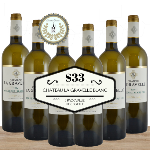 Chateau La Gravelle Blanc 2019 - 6 Pack Value