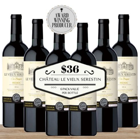 Super Value - 6 pack of Bordeaux's Le Vieux Serestin 2016. Buy the wine now from Pop Up Wine, Singapore's favourite online wine store. Wine delivery today to your door. We are the only same-day, 7 day a week wine store to offer contactless wine delivery. Free wine delivery for any 24 wines or more. Buy by the carton and box for events and get the lowest priced wine in Singapore. Buy bulk wine for parties, events, weddings, openings, launches, family reunions, Chistmas, Chinese New Year and work events.