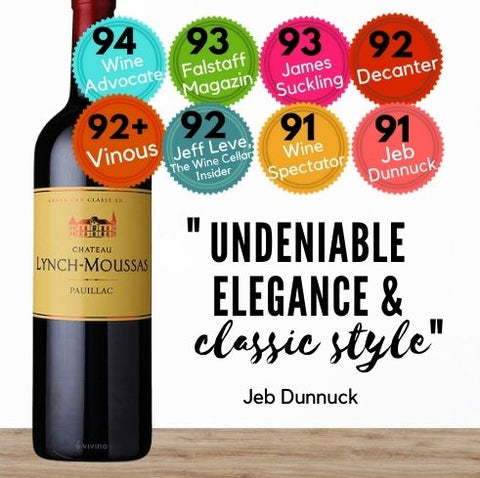 Chateau Lynch-Moussas, Pauillac from Bordeaux. Buy online from Singapore's favourite wine store, Pop Up Wine. Same day and free delivery available.