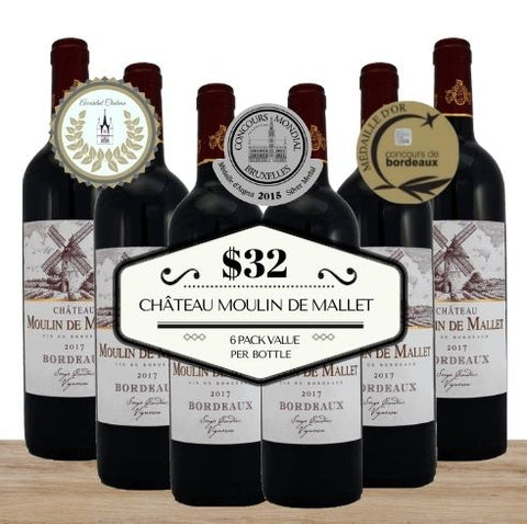 Buy this 6 pack of Château Moulin de Mallet from Pop Up Wine, Singapore's favourite online wine store. Buy in bulk and save. The perfect box of champagne for events, parties, weddings, and gifts. Same-day wine and champagne delivery today to your door.