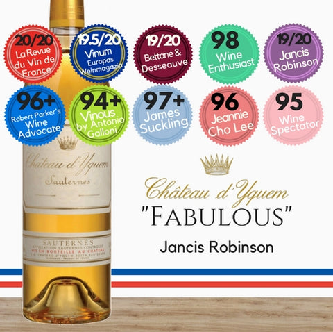 A Premier Cru Supérieur [Superior First Growth] wine from Bordeaux. Sauternes French dessert wine from Pop Up Wine. Same day delivery. Free delivery for 2 cases