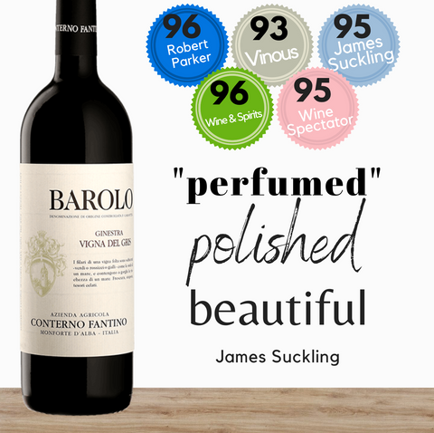 Premium Italian Conterno Fantino red wine. Highly rated Nebbiolo from the Barolo region of Italy. Available online from Pop Up Wine. Same day delivery & free for over 2 dozen bottles.