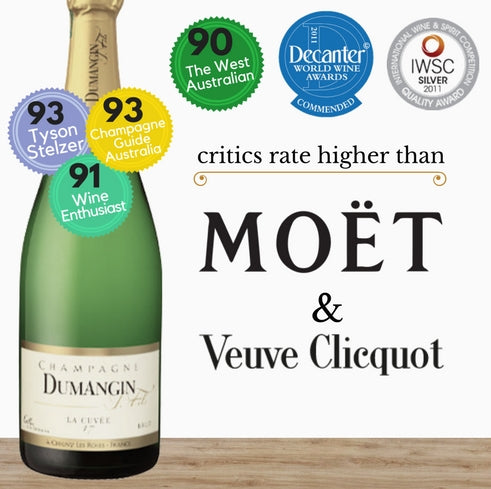 J. Dumangin French Champagne that scores better than Moet Chandon and Veuve Clicquot vintage - at half the price. Pop Up Wine Singapore. Same day delivery. Free for 2 dozen. Buy this wine online.