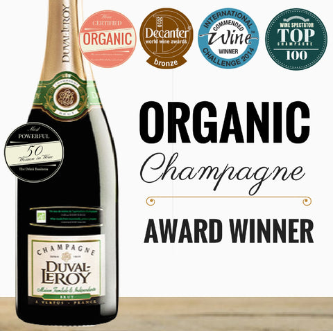 Organic French Champagne by Duval-Leroy. Singapore low price online wine shop - Pop Up Wine. Premium wine and champagne. Same day delivery from $7 or free delivery for 2 dozen of any wine.