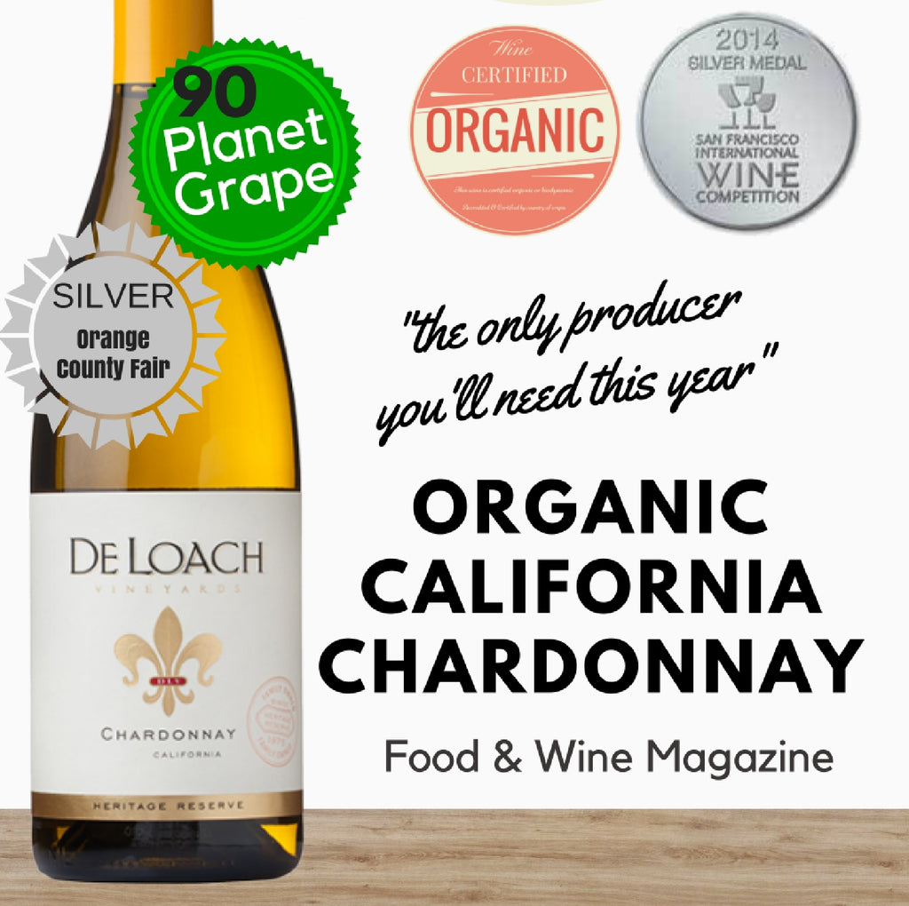 Organic Californian Chardonnay by Deloach. Premium white wine. Discounts available online ~ Pop Up Wine Singapore.  We deliver fast daily.